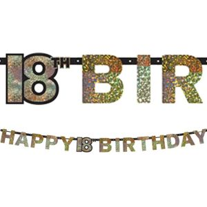Prismatic 18th Birthday Banner - Sparkling Celebration