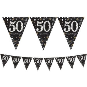 Prismatic 50th Birthday Pennant Banner - Sparkling Celebration