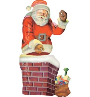 Christmas Balloon - Giant Santa Chimney