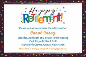 Custom Happy Retirement Celebration Invitation