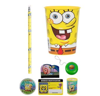 Sponge Bob Super Favor Kit for 8 Guests
