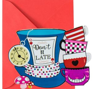 Metallic Wonderland Tea Party Invitations 8ct