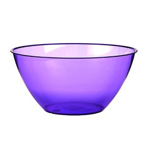 Purple Plastic Swirl Bowl