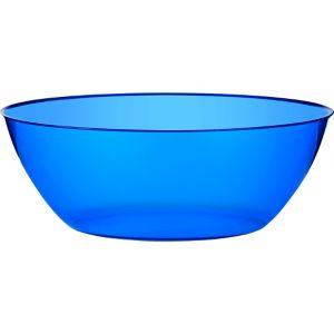 Royal Blue Plastic Swirl Bowl