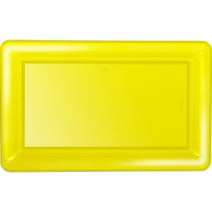 Yellow Plastic Rectangular Platter
