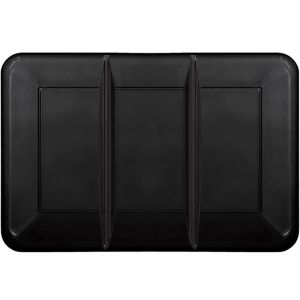 Black Plastic Rectangular Sectional Platter