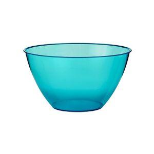 Caribbean Blue Plastic Swirl Bowl