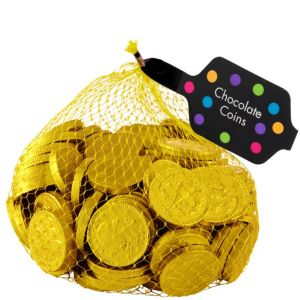 Small Yellow Chocolate Coins 125pc