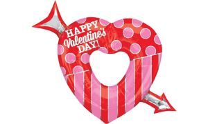 Happy Valentine's Day Balloon - Giant Heart & Arrow