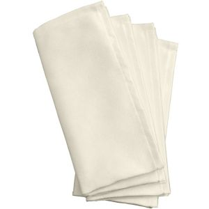Premium White Fabric Napkins 4ct