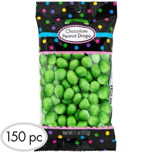 Kiwi Green Peanut Chocolate Drops 150pc