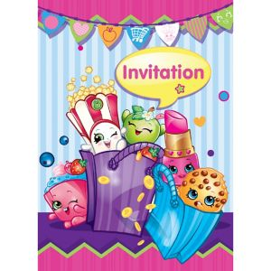 Shopkins Invitations 8ct