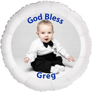 Custom Boy Baptism Photo Balloon