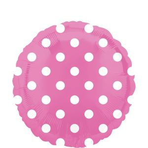 Bright Pink Polka Dot Balloon