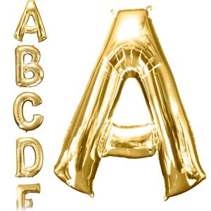 Letter A Balloon - Gold