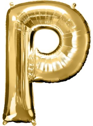 Giant Gold Letter P Balloon