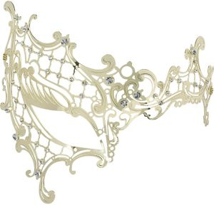 Gold Filigree Half Mask