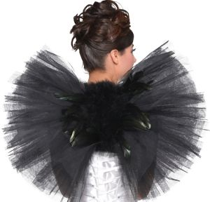 Black Tulle & Feather Wings