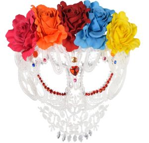 White Lace Day of the Dead Mask