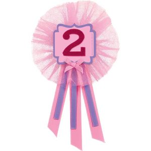 Pink 2nd Birthday Award Ribbon