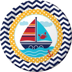 Ahoy Nautical Lunch Plates 8ct