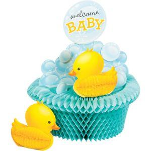 Bubble Bath Baby Shower Honeycomb Centerpiece