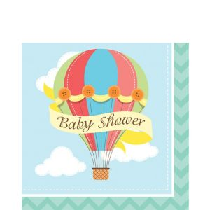 Up & Away Baby Shower Letters Lunch Napkins 16ct