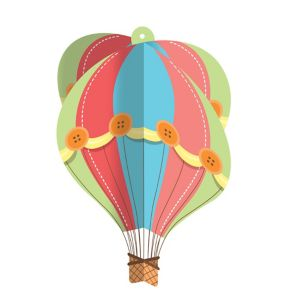 Up & Away Baby Shower Hanging Hot Air Balloon