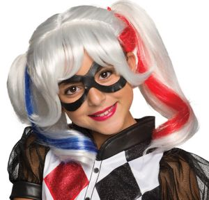 Child Harley Quinn Wig Dc Super Hero Girls Party City