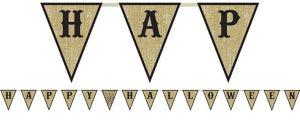 Happy Halloween Burlap Pennant Banner