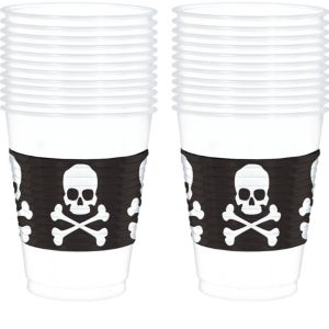 Skull & Crossbones Cups 25ct