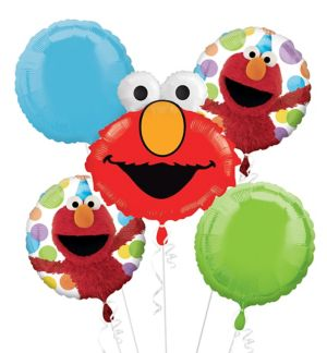 Elmo Balloon Bouquet 5pc - Sesame Street