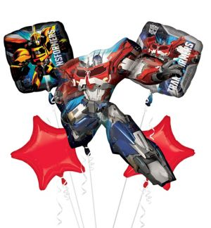 Optimus Prime Balloon Bouquet 5pc - Transformers