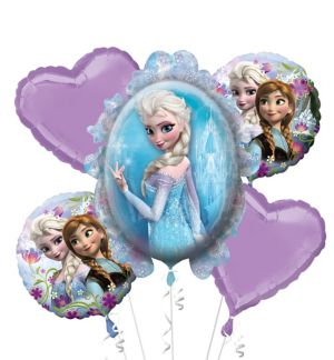 Frozen Balloon Bouquet 5pc - Giant