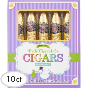 Gold Baby Shower Chocolate Cigars 10ct