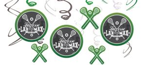 Lacrosse Swirl Decorations 12ct