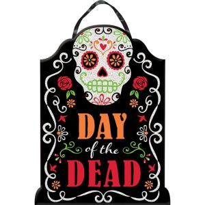 Day of the Dead Tombstone Sign