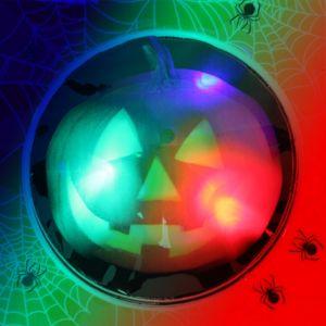 Light-Up Jack-o'-Lantern Sticker Badge