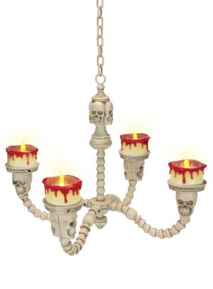Flickering LED Skull Chandelier