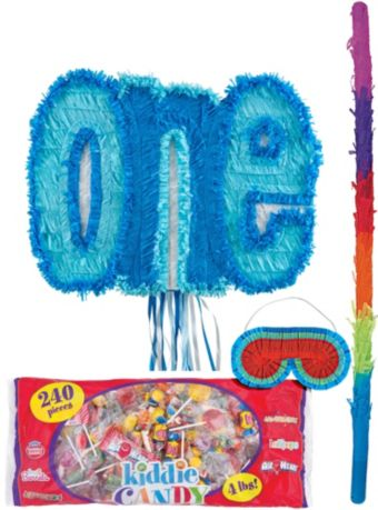 Blue One Pinata Kit
