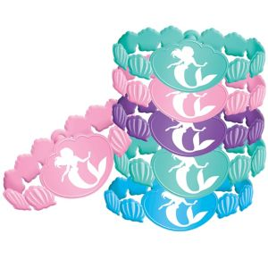 Little Mermaid Wristbands 6ct