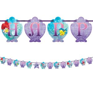 Little Mermaid Birthday Banner Kit