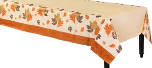Copper Leaves Table Cover