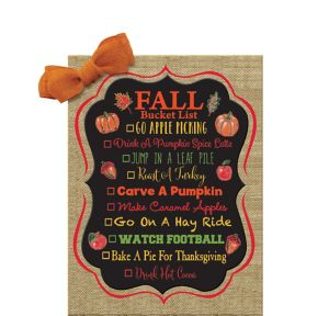 Fall Bucket List Sign