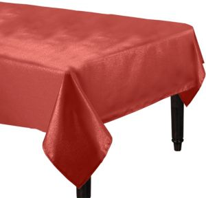 Metallic Burgundy Tablecloth