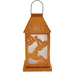Light-Up LED Glitter Fall Lantern