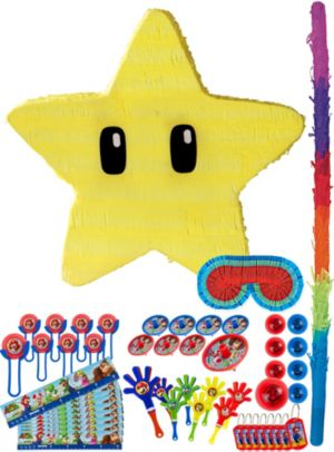Star Pinata Kit with Favors - Super Mario