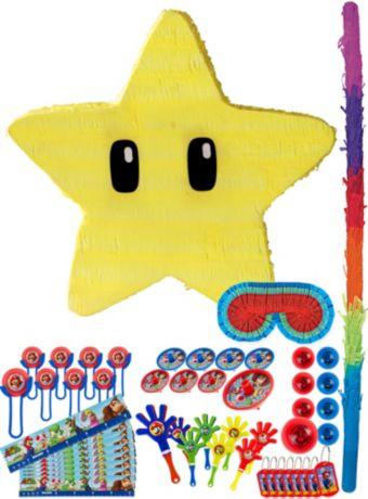Star Pinata Kit with Favors - Super Mario