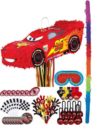 Lightning McQueen Pinata Kit with Favors - Cars