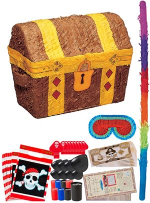 Treasure Chest Pinata Kit with Favors